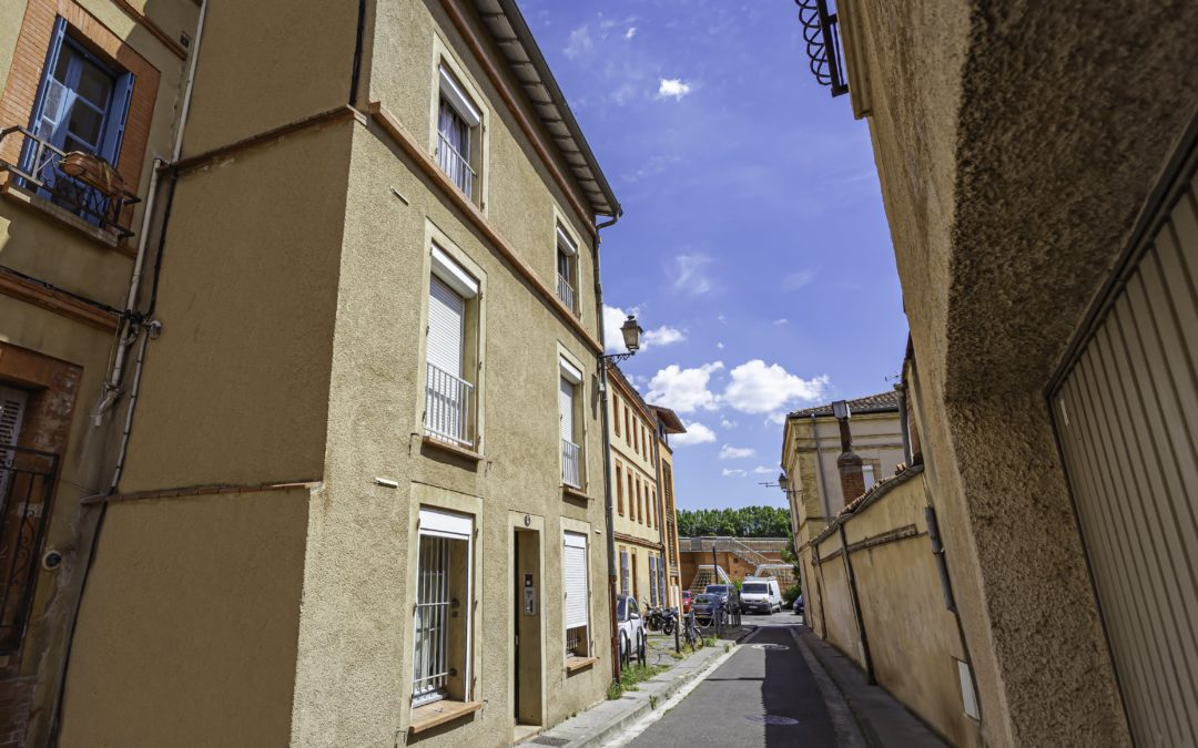 Immeuble d'habitation quartier Saint-Cyprien à Toulouse
